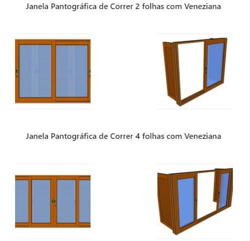 Janelas Pantográficas de Madeira