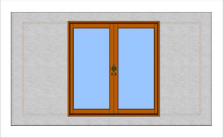 Porta de correr na parede - Madeira - Oculta
